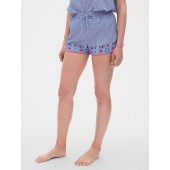 Dreamwell Crinkle Embroidered Shorts