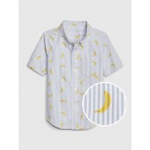 Banana Stripe Short Sleeve Shirt