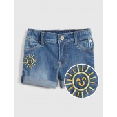 Embroidered Shortie Shorts