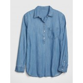 Boyfriend Popover Shirt in TENCEL&#153