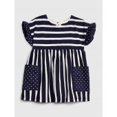 Baby Ruffle-Sleeve Dress