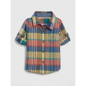 babyGap Plaid Convertible Shirt