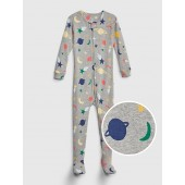 Baby Space Footed One-Piece