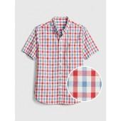 Kids Plaid Poplin Short Sleeve Shirt