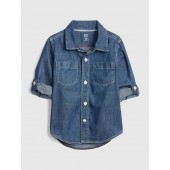 Toddler Denim Convertible Shirt