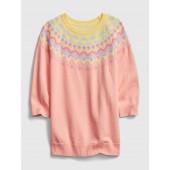 Toddler Print Sweater Dress