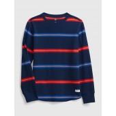 Kids Waffle-Knit Slub Shirt