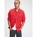 Double Flap Pocket Flannel Shirt in Standard Fit