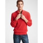 Mockneck Shaker Sweater