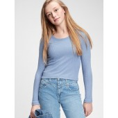 Teen Recycled Softspun Fitted Crop T-Shirt