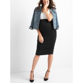 Maternity full panel ruched pencil skirt