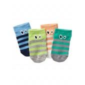 Stripe Face Socks (4-Pack)