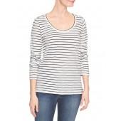Easy Stripe Long-Sleeve T-Shirt in Slub Jersey