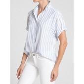 Stripe Short Sleeves Shirt in Weave