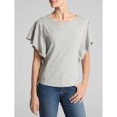 Vintage Wash Flutter Sleeve T-Shirt