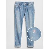 Print Girlfriend Fit Jeans
