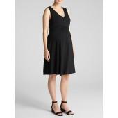 Maternity Nursing Crossover Dress in Jersey