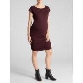 Maternity short-sleeve dress