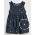 Heart Print Denim Dress