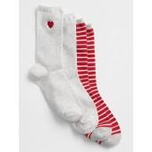 Print Crew Socks (2-Pack)