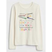 Embellished Long Sleeve Graphic T-Shirt