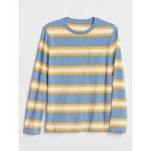Stripe Long Sleeve Pocket T-Shirt