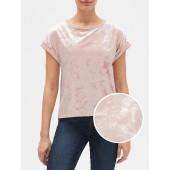 Velvet Short Sleeve Top