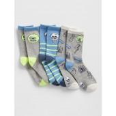 Kids Print Socks (3-Pack)