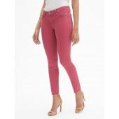 Mid Rise Curvy Legging Skimmer Jeans with Raw Hem