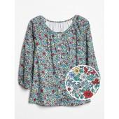 Floral Button-Front Top