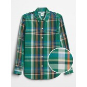 Poplin Plaid Long Sleeve Shirt