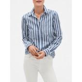 Stripe Fitted Boyfriend Shirt