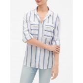 Stripe Utility Boyfriend Shirt