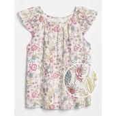 Kids Floral Flutter Top