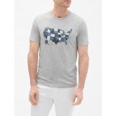 Graphic Crewneck T-Shirt in Jersey