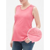 Maternity Embroidered Tank Top