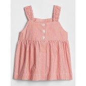 Baby Stripe Button-Front Tank Top