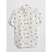Kids Poplin Short Sleeve Shirt