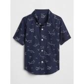 Shark Print Short Sleeve Shirt