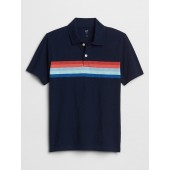 Kids Graphic Polo Short Sleeve Shirt
