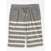 Kids Stripe Shorts in Linen-Cotton