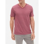 Everyday Stripe V-Neck T-Shirt in Jersey