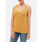 V-Neck Sweater Tank Top