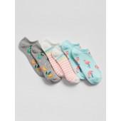 Kids Print No-Show Socks (3-Pack)