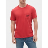 Graphic Short Sleeve Pocket T-Shirt