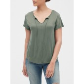 Luxe Jersey Tie-Neck T-Shirt