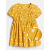 Baby Dot Puff-Sleeve Dress