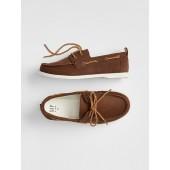 Kids Faux-Leather Boatshoes