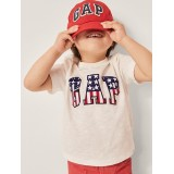 Toddler Flag Gap Logo Crewneck T-Shirt