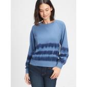 Tie-Dye Raglan Crewneck Sweatshirt
